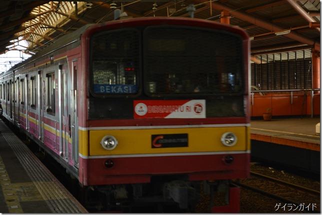 ジャカルタ 鉄道 車体