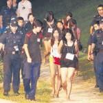 Sembawangの森の中での売春行為
